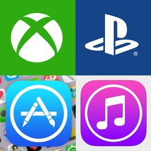 PlayStation Store (PSN), Xbox Live, App Store и iTunes